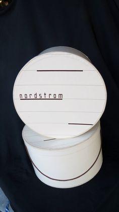 SALE 10 OFF    Vintage Nordstrom hat box by Thenandagaindesigns Vintage Hat Boxes