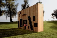 3-foot wide multi-functional space... the swiss army knife of garden sheds by Nils Holger Moormann