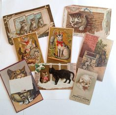 Victorian Trade Cards Antique Cats Business by APaperWitch on Etsy
