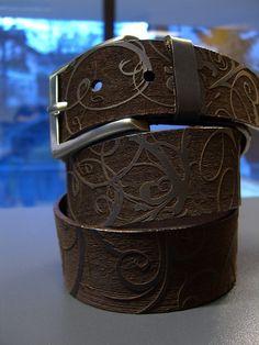 Laser Engraved Leather Belt!