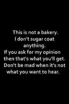 Ain't gonna sugarcoat