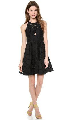 Milly Sheer Overlay Dress $550