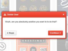Dribbble - Confirmation Popup Alert (Free PSD) by Oliver Long