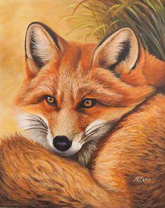 Fox Painting, Lake Painting, Acrylic Painting Canvas, Fox Illustration, Illustrations, Fox Pictures, Coloring Book Art, Bird Artwork, Fox Art