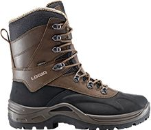 LOWA Couloir GTX. Think of LOWA snowboots as snow tires for your feet: The large lug pattern sole units follow the natural line of foot motion with a minimum of one lug in contact with the ground at all times during the roll-off motion - thus improving stability on snow and ice.