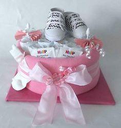 Windelgeschenk Windeltorte*Baby Mädchen Schühchen *Taufe Geburt Party Baby
