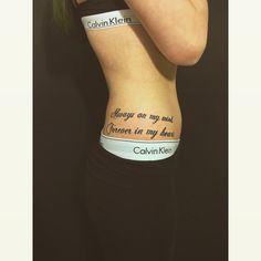 Quote Tattoo Ideen hip Hüfte Frau girl ink