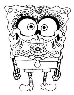 This is Sugar Skull Coloring Pages Printable Blank Sugar Skull-13327 ...