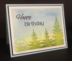 Simply Sara Stampin' ~ Sara Hoogendoorn: Fresh Forest ~ A Fun Stampers Journey Card using the stamp sets Fresh Forest and Cake Time