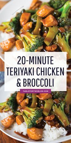 Easy Teriyaki Chicken and Broccoli - Quick Chicken and Broccoli Recipe - SAVORY from Table for Two - Chicken Recipes - Pratik Hızlı ve Kolay Yemek Tarifleri Chicken Teriyaki Rezept, Easy Teriyaki Chicken, Easy Chicken Stir Fry, Chicken Teryaki Stir Fry, Teriyaki Chicken Casserole, Teriyaki Bowl, Asian Chicken Recipes, Chinese Chicken Teriyaki Recipe, Stir Fry Chicken Breast