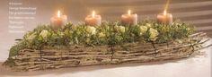 tafelstuk - Google zoeken Advent, Candle Holders, Diy Crafts, Candles, Google, Plants, Make Your Own, Porta Velas, Homemade