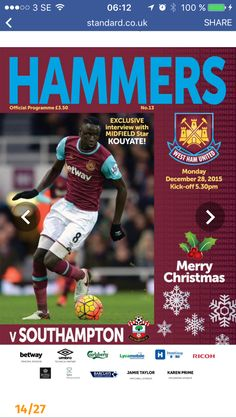 West Ham United Fc, Southampton, Merry Christmas, Kicks, Merry Little Christmas, Wish You Merry Christmas