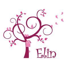 Lieve boom als geboortesticker voor Elin.