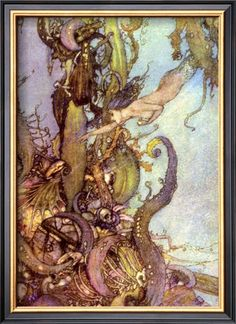 - Hans Christian Andersen, illustrated by Edmund Dulac. Edmund Dulac Fairy Tale Illustrations at Art Passions. Edmund Dulac, Art And Illustration, Mermaid Illustration, Book Illustrations, Magazine Illustration, Landscape Illustration, Arthur Rackham, Hans Christian, Harry Clarke