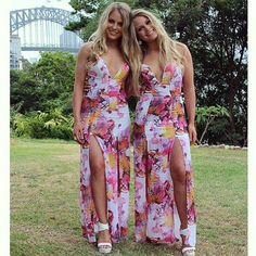 Babennnnn @courtneylevin_ + @chelslev killin' it in our 'WINNIE FLORAL DRESS' ❤️ Shop it now via peppermayo.com.au