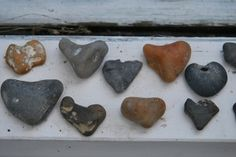 heart shaped rocks. by candice