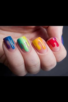 This is a cool Hawaiian finger nails  paint