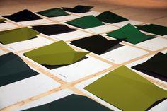 Paint chip study by Hella Jongerius