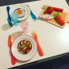 Petits disques de nourriture à imprimer pour dinette!