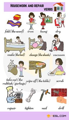List of different types of verbs for kids in English. Learn these frequently used verbs with verbs pictures to improve and enhance your vocabulary in English. English Verbs, Learn English Grammar, English Writing Skills, English Vocabulary Words, English Phrases, Learn English Words, English Study, English Lessons, Spanish Grammar