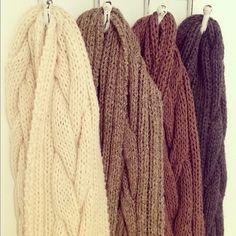 Chunky handmade 100% Arran Wool scarves <3
