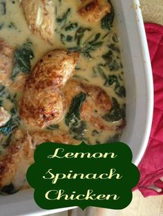 lemon spinach chicken. (This came out so good---used milk instead of cream---probably could have used more.....On top of orzo)