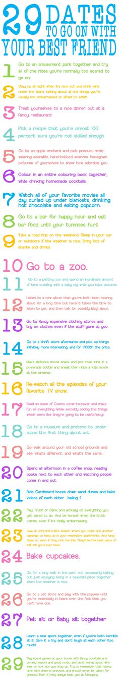 29 dates with your best friend HEY SIERRA THIS IS FOR US!!!