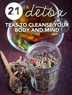 These detox teas will not only nourish you with antioxidants and healing properties, they'll provide calm in an otherwise hectic day. Detox your mind and body at the same time with these cleansing teas. Ayurvedic Detox Tea The time-tested. Detox Tea Diet, Detox Drinks, Detox Juices, Detox Foods, Cleanse Detox, Water Recipes, Detox Recipes, Ayurveda, Rooibos Tee