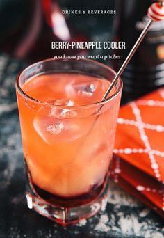 Berry-Pineapple Cooler: berry-flavored Grenadine, vodka, pineapple juice, cranberry juice