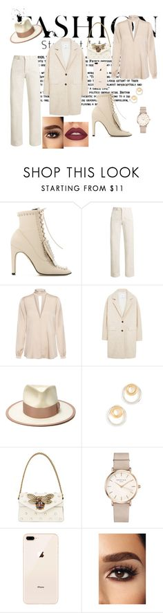 """""""Untitled #350"""" by mae-luxury ❤ liked on Polyvore featuring Sergio Rossi, Rachel Comey, A.L.C., MANGO, Nick Fouquet, Madewell, Gucci and ROSEFIELD"""