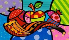 Kunst Picasso, Picasso Art, Jewish Crafts, Jewish Art, Rosh Hashana Image, Bright Colors Art, Arte Judaica, Arte Country, Arte Pop