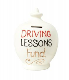 Driving lessons piggy bank. - Learner Driver