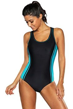 Attraco Swimwear One Piece training swimsuit for women bl.
