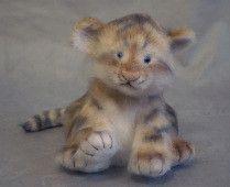 stuffed tiger cub