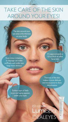 Under Eye Skin Care Tips #EYECARE #EYEBAG #BEAUTY #SKINCARE #SKINCARETIPS #eyecream #eyecare #undereye Crepey Eyelids, Under Eye Bags, Thing 1, Puffy Eyes, Anti Aging Cream, Dark Circles, Skin Care Tips, Nu Skin