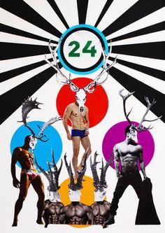 "Saatchi Art Artist Silvio Severino; Collage, ""24 – O Número do Viado"" #art"