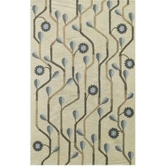 Capel Rugs Blue Bell Twining Blue Wool Rug @Zinc_Door#athomewithSA