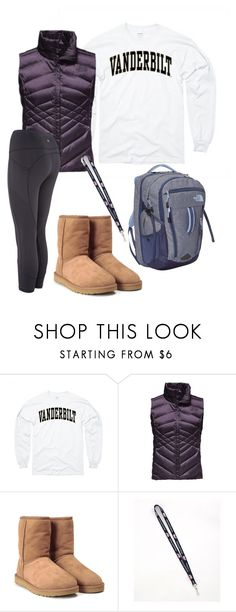"""Untitled #154"" by soccerstreak on Polyvore featuring The North Face, UGG Australia and Vineyard Vines"