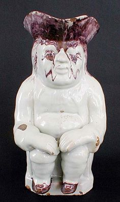 AN EXTREMELY RARE WHITE DELFT TOBY JUG 1770