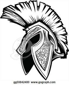 Vector Graphic of a Greek Spartan or Trojan Helmet Stock Photo Trojan Helmet, Spartan Helmet, Spartan Warrior, Spartan Logo, Spartan Tattoo, Archangel Michael Tattoo, Helmet Drawing, Helmet Tattoo, Tattoo Shows