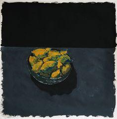 "Saatchi Online Artist Damien Savages; Painting, ""Basket of lemons. Night."" #art"