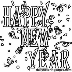 new years coloring pages new years eve coloring pages holiday