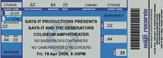 Make your own concert tickets - Cute as birthday invitations or for scrapbooking! :)
