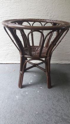 Thick Wicker Round Table Base Unbranded Tropical Tables
