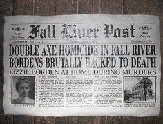 Mordet på Andrew och Abby Borden i Fall River, MA, USA 1892