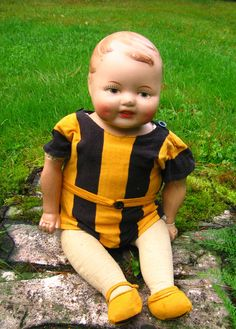 """Sisko"", (Sister) my childhood doll. N:o IX. 47 cm tall. My mother payed for her for four months!"