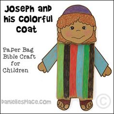 Joseph and His Coat of Many Colors Bible Craft for Children from www.daniellesplace.com. Click on the image to follow the link.