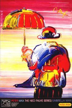 Umbrella Man Peter Max