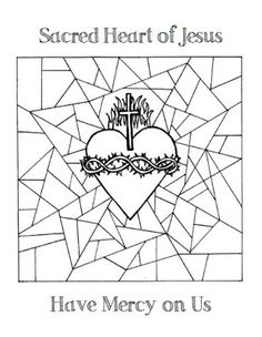 Look to Him and be Radiant: Sacred Heart of Jesus Coloring Pages