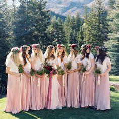 31 Pink Bridesmaid Dresses That Match Wedding Gowns bridesmaid dress pinkwedding wedding pinkbridesmaiddresses - wilhelmina. Wedding Attire, Wedding Gowns, Wedding Day, Wedding Stuff, Dream Wedding, Wedding Bells, Perfect Wedding, Wedding Reception, Wedding Cakes
